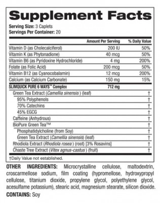 slimquick pure regular strength ingredients