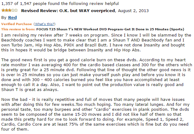amazon critical review on focus t25