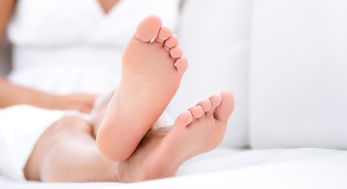 heathy female feet