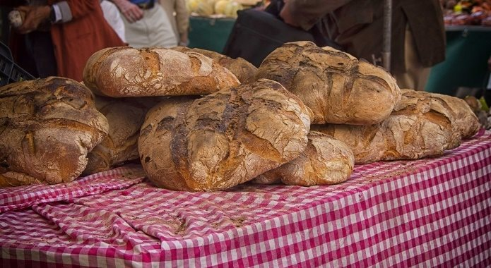 bread on table
