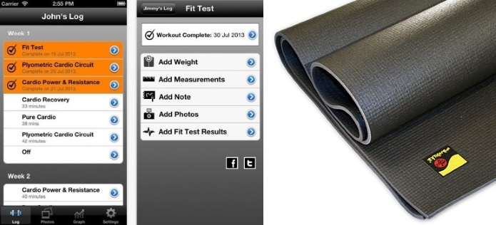 Insanity App with plyo mat
