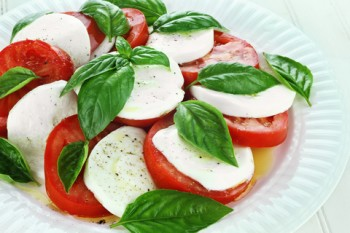 Caprese Salad With Basil Olive Oil