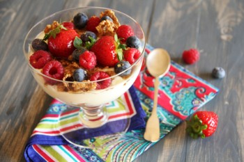 Greek Yogurt With Berries & Honey