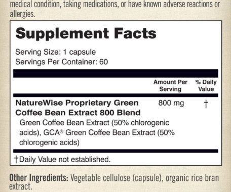 GCB extract ingredients