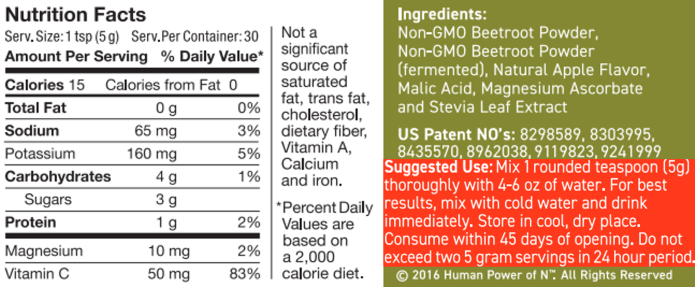 superbeets nutritional information