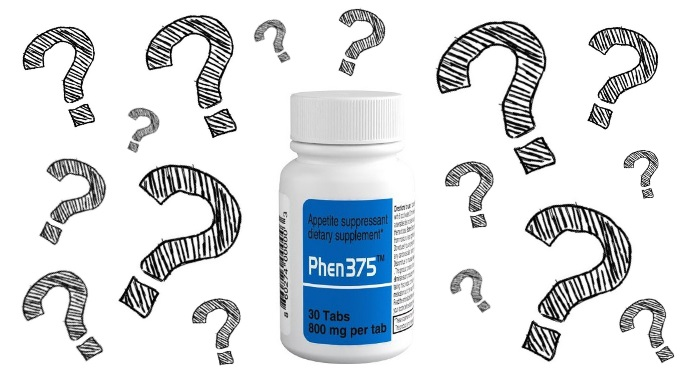 Phen375 bottle of supplements and questions