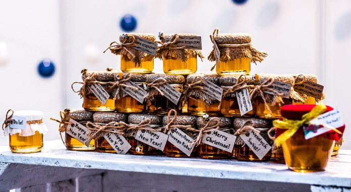cute jars of honey