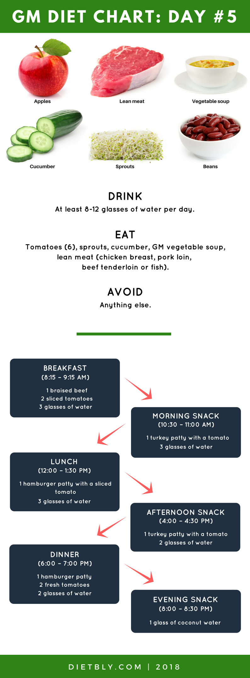 gm diet chart day 5