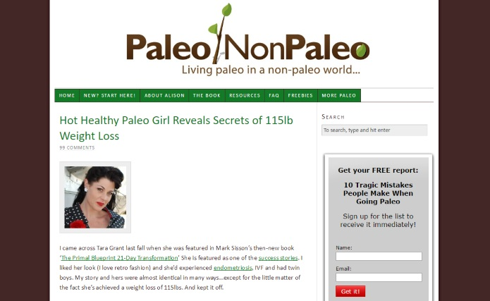 Paleononpaleo website on exercises