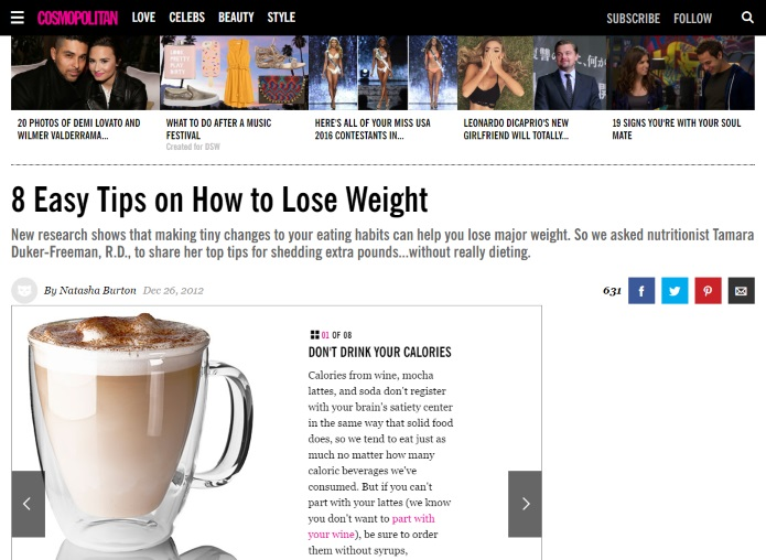 cosmopolitan on losing weight
