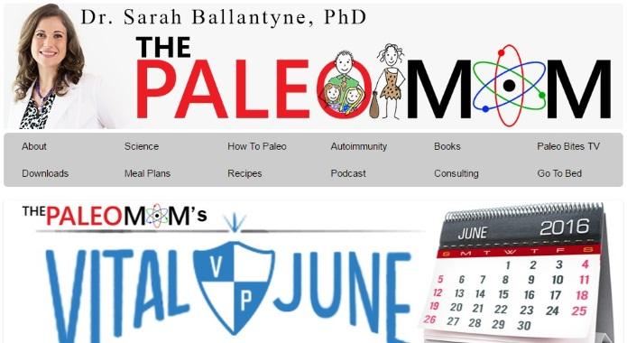 ThePaleoMom website