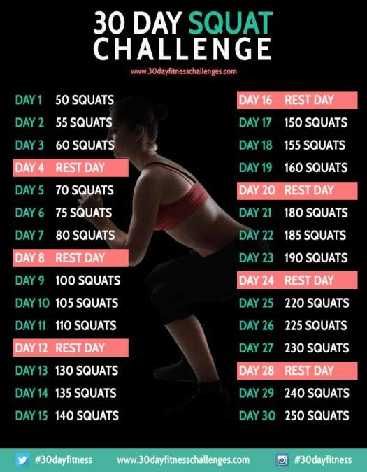 30 day squat challenge guide