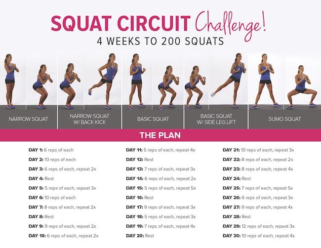 FitSugar squat challenge