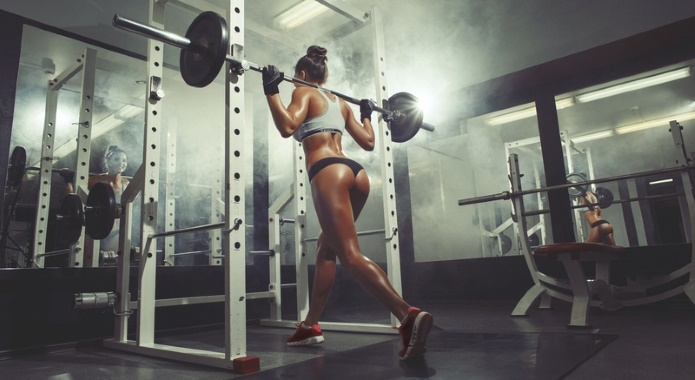woman doing squat
