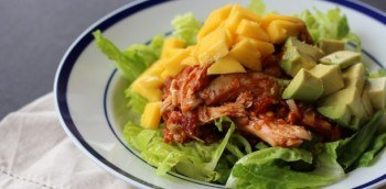 Tasty Enchilada Chicken Mango Salad