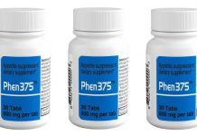 Phen375 bottle of supplements