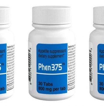 Phen375 bottle of supplements