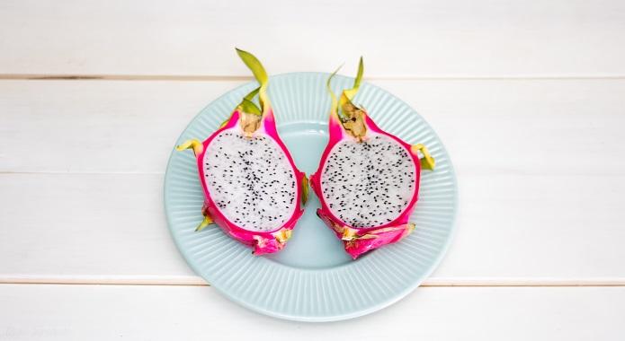 halves of dragon fruit