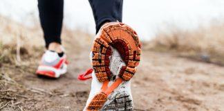 woman in walking shoes