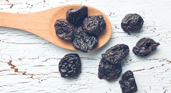 prunes on table desktop