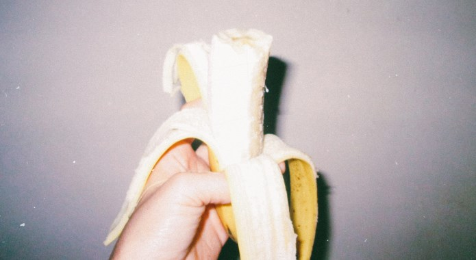 eaten banana