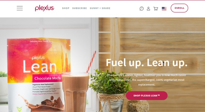 plexus official site screenshot
