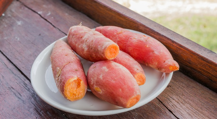 boiled sweet potatoes